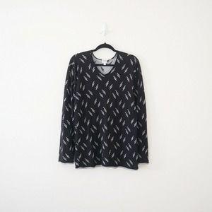 Armani Collezioni Dash Pattern Double Knit Sweater